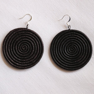 Woven Disc Earrings – Large