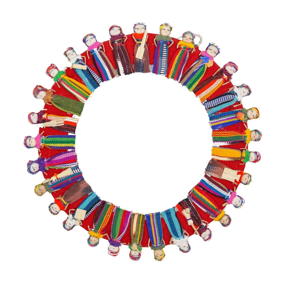 Large Worry Doll Wreath