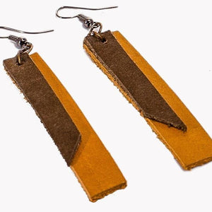 Leather Geometric Earrings