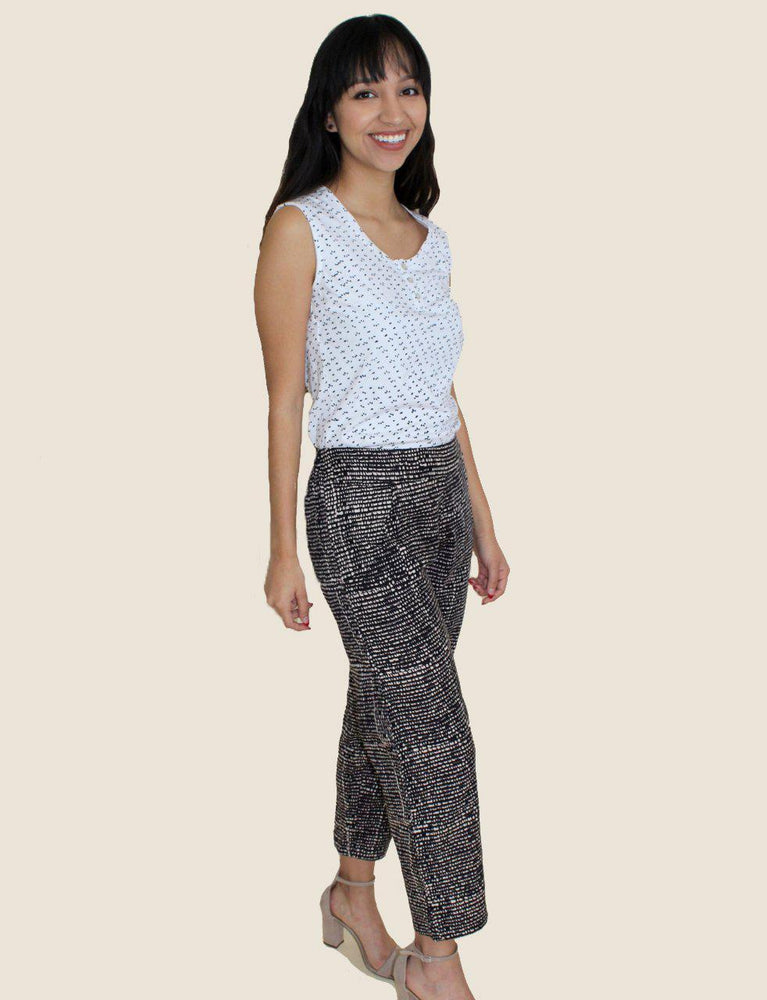 Midnight Dusk Crop Pants- Organic Cotton - Passion Lilie - Fair Trade - Ethically Made Cotton