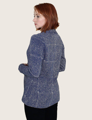 Mila Short Organic Fleece Blazer - Passion Lilie - Fair Trade - Ethically Made Cotton ?id=13058436300858