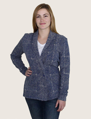 Mila Short Organic Fleece Blazer - Passion Lilie - Fair Trade - Ethically Made Cotton ?id=13058436268090