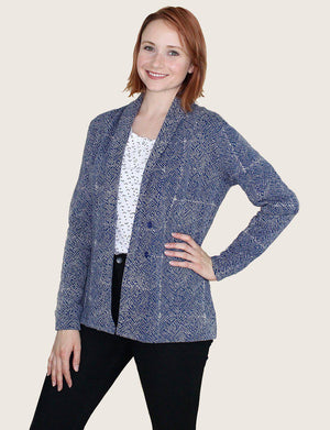 Mila Short Organic Fleece Blazer - Passion Lilie - Fair Trade - Ethically Made Cotton ?id=13058436333626