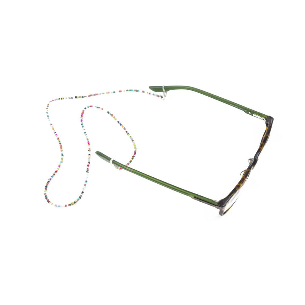 Multi-Colored Seed Bead Eyeglass Chain