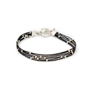 Fair Trade Multi Strand Slider Bracelet Black