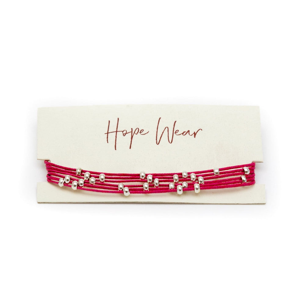 Fair Trade Multi Strand Slider Bracelet Red Packaging