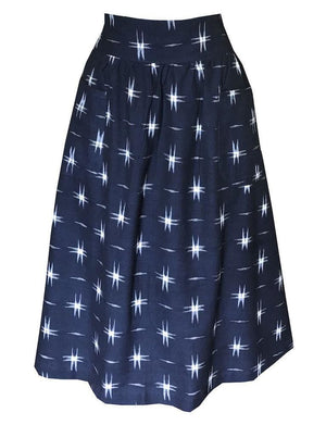 Navy Stars Midi Skirt - Passion Lilie - Fair Trade - Ethically Made Cotton ?id=22338003793