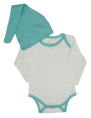 Snap Long Sleeve Body Suit & Hat- Available in 4 Colors
