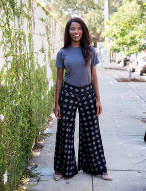 Octavia Pants- Pre-Order - Passion Lilie - Fair Trade - Ethically Made Cotton