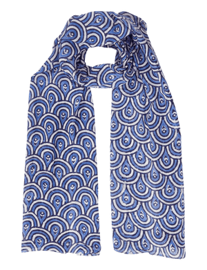 Peacock Blue Scarf