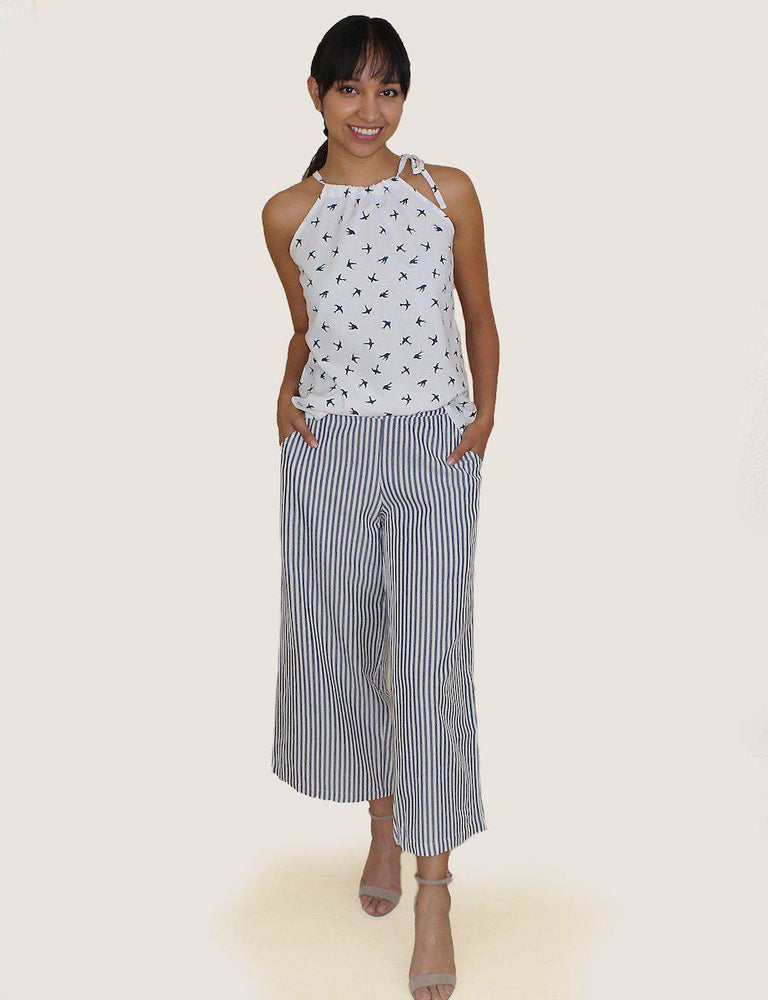 Pinstripe Crop Pants - Passion Lilie - Fair Trade - Ethically Made Cotton ?id=13581558251578