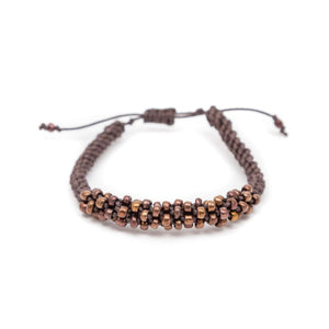 Round Cord and Bead Adjustable Bracelet