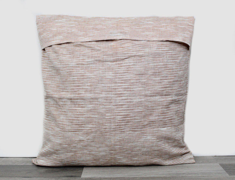 Salmon Ikat Throw Pillow Cover