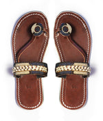 Amani Sandal beaded leather Kenyan sandal