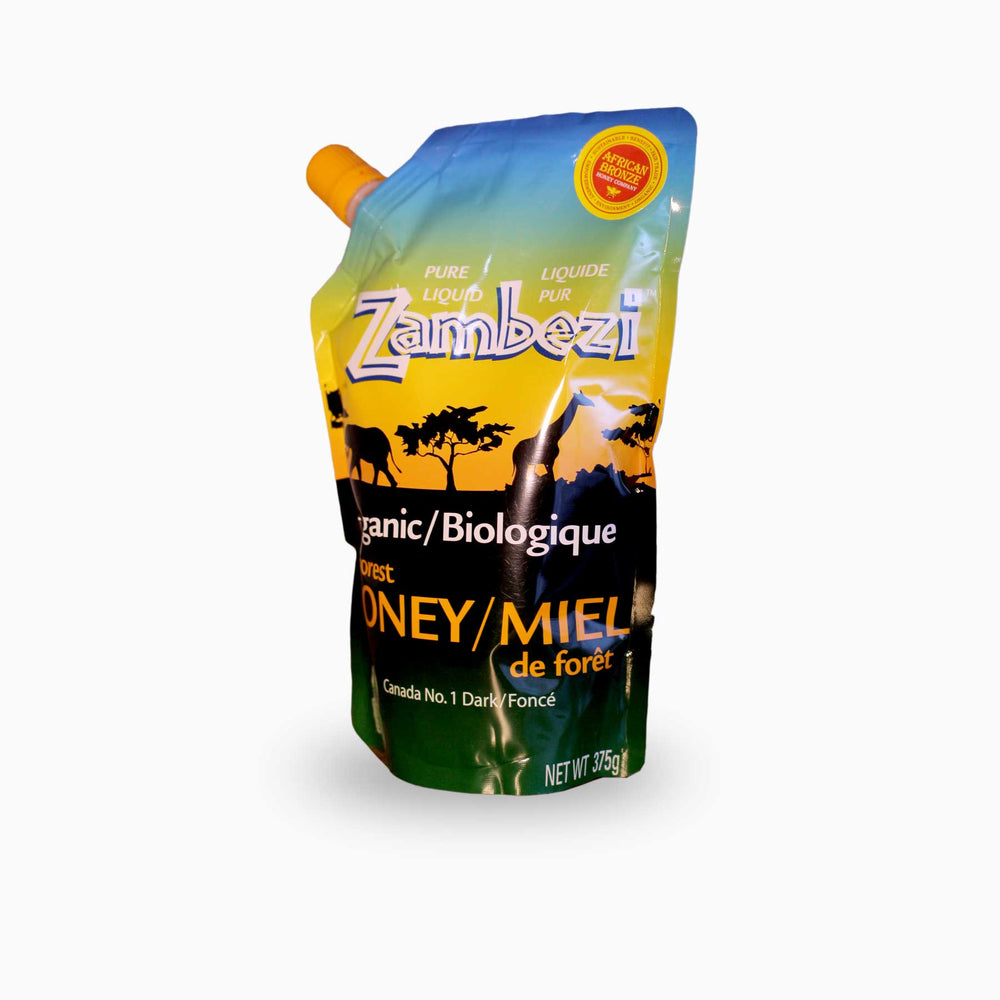 Zambezi - Organic Honey in a Standup Pouch - 13.25 oz