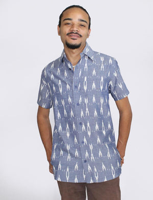 Celestial Ikat Men's Button Down Shirt