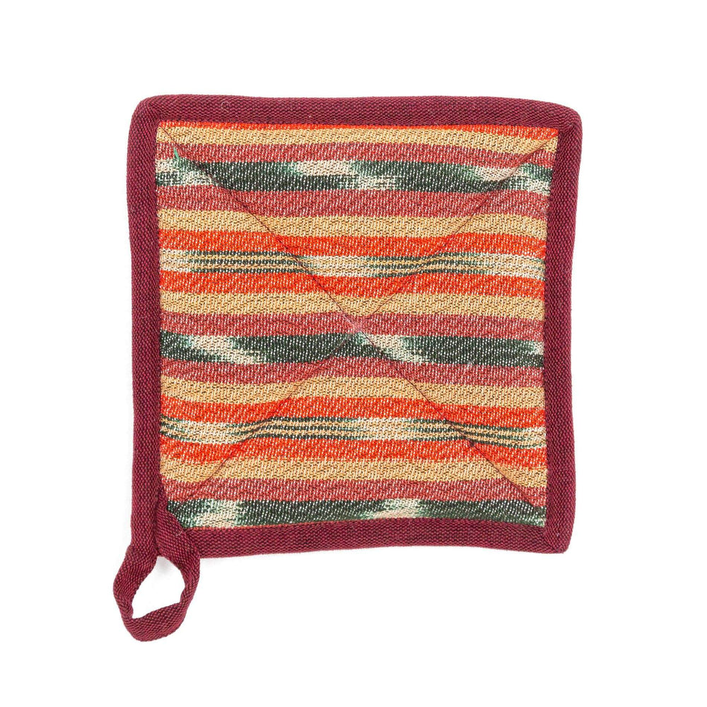 Fair Trade Handmade Pot Holder  Orange Sage ?id=14014509350965