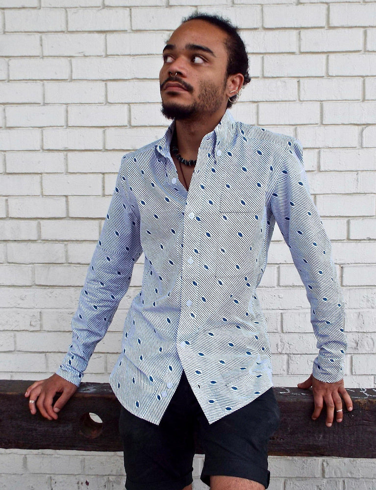 The Diagonal Men's Button Down Shirt - Organic Cotton