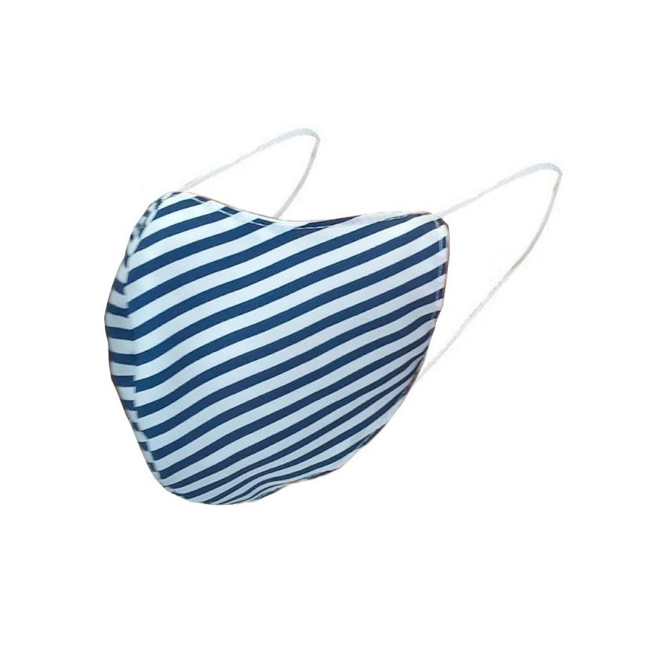 Face Mask Pinstripe Blue