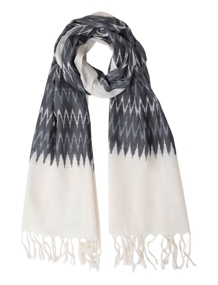 Winter Grey Ikat Scarf - Passion Lilie - Fair Trade - Ethically Made Cotton ?id=5433602867258