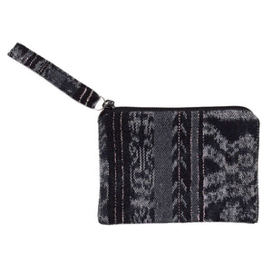 Black Ikat Coin Purse