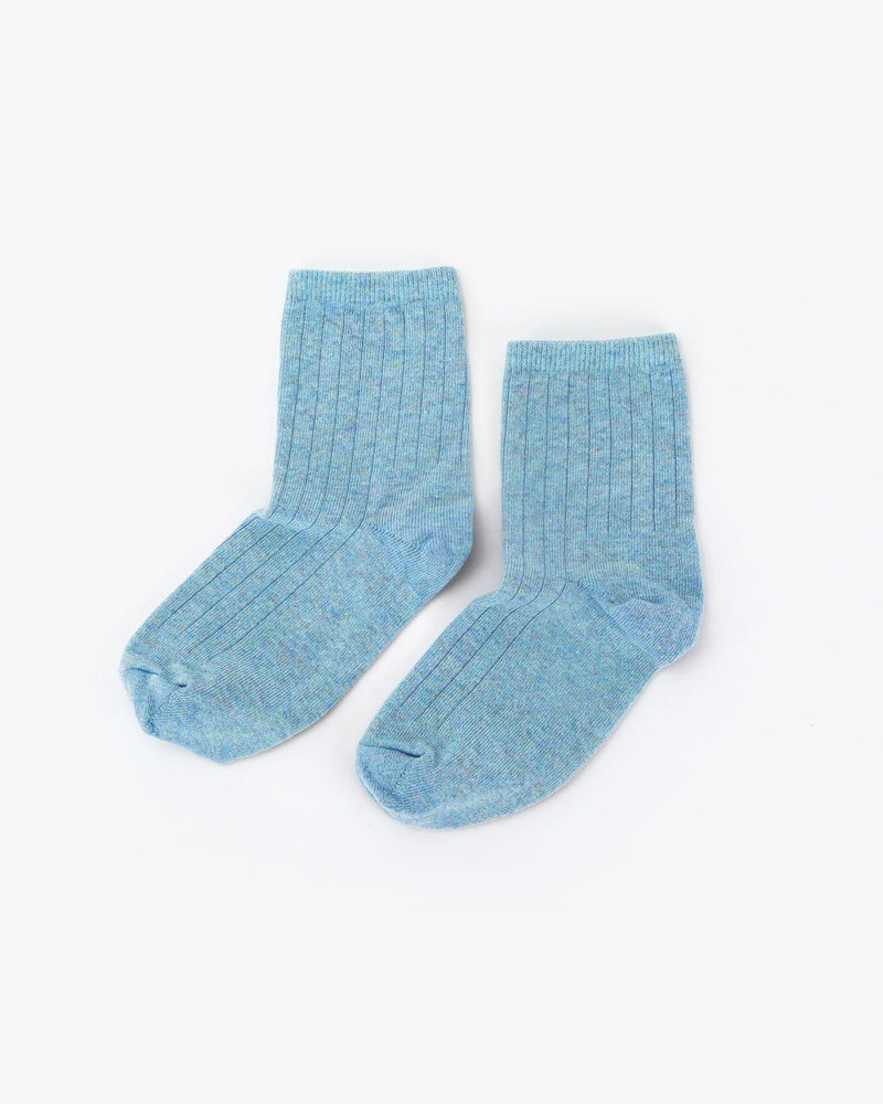 Cotton Mid Sock Celeste