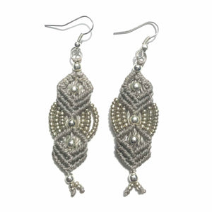 Beaded Macrame Earrings