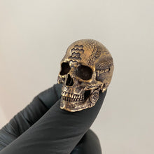 Load image into Gallery viewer, Bronze TechSkull.1 Ring