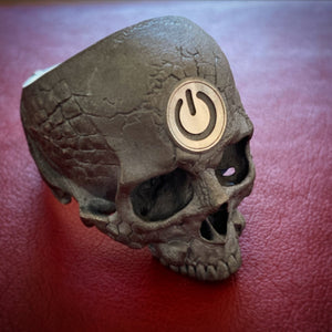 Blackened 2tone Tech Skull.2 Power Skull