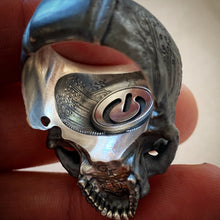 Load image into Gallery viewer, Blackened 2tone Tech Skull.2 Power Skull