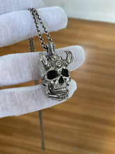 Load image into Gallery viewer, TechSkull.3 Pendant Sterling