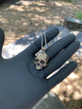 Load image into Gallery viewer, Bronze TechSkull.2 Pendant