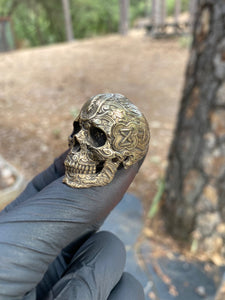 Bronze Tied Wind Skull Ring