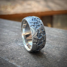 Load image into Gallery viewer, Cherry Blossom Band Sterling Silver