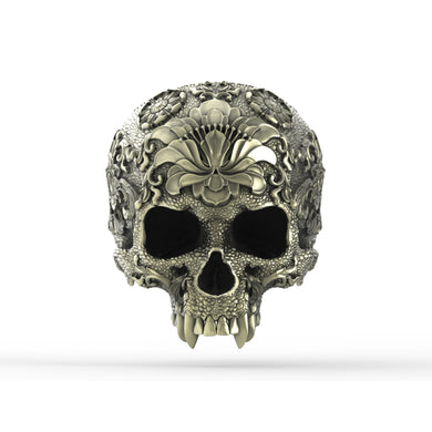Bronze Ornamental SkullRing1