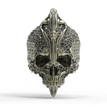 Load image into Gallery viewer, Bronze Chisel Skull Ring