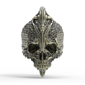 Bronze Chisel Skull Ring