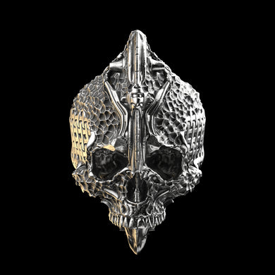 Chisel Skull Ring Sterling Silver