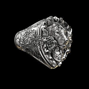 Floral Tigress Ring Sterling Silver