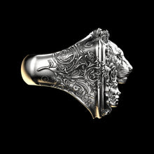 Load image into Gallery viewer, Floral Tigress Ring Sterling Silver