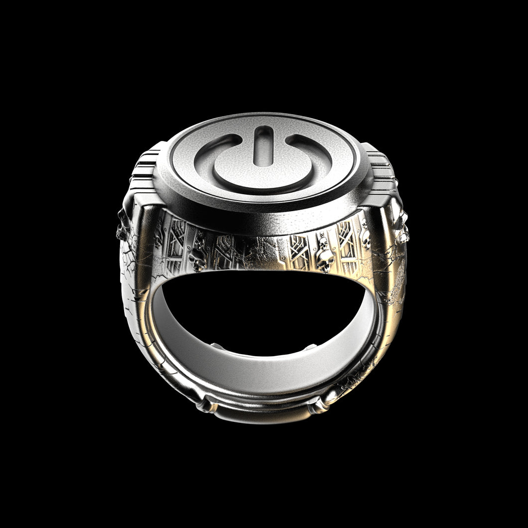 Power Signet Sterling Silver