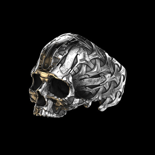 TechSkull.6 Ring Sterling