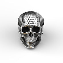Load image into Gallery viewer, Tech Skull Ring .1