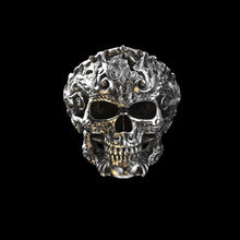 Load image into Gallery viewer, Flourish Skull Ring 1
