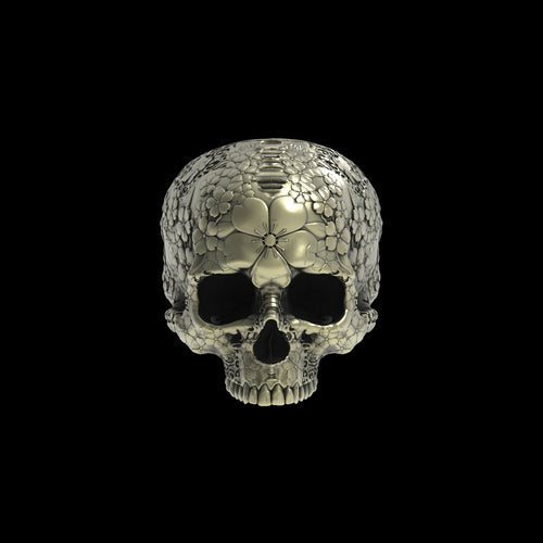 Bronze Japanese Garden Skull Ring