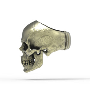 Bronze Anatomical Skull Ring (SIA) Full