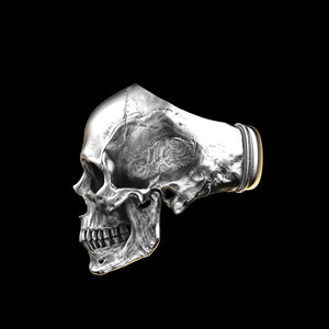 Anatomical Skull Ring Full Jaw (SIA) Sterling