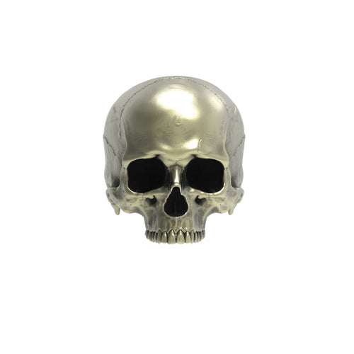 Bronze Anatomical Half Jaw Skull Ring