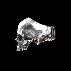 Anatomical Skull Ring Half Jaw (SIA) Sterling Silver