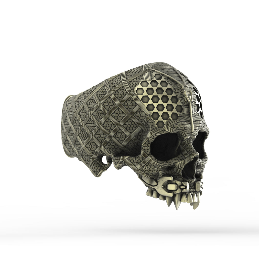 Bronze TechSkull.4 Ring